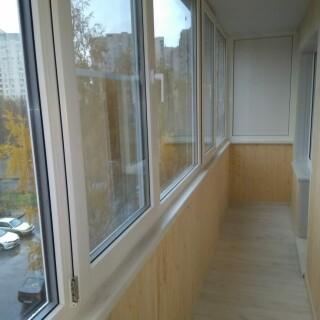 Балкон с обивкой 4